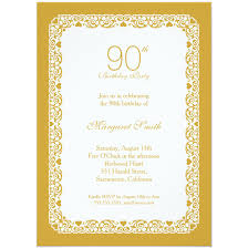 90 Birthday Party Invitations Elegant Personalized 90th Birthday Party Invitations