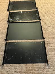 4 rack shelves black