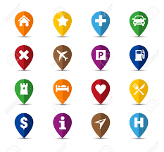 Pins For Maps Collection Of Navigation Icons Pins For Maps