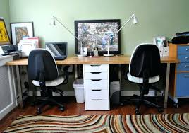 office desk setup ideas. Fascinating Lovable Two Computer Desk Setup With Small Office Home Desks Ideas