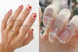 屬於ol 們的小浪漫今個春夏必試的是這種典雅温柔的指甲彩繪 Wiw