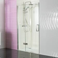 Decem Hinged Door with Hinged Inline Panel for Alcove Fitting