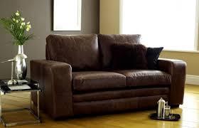 denver brown leather sofa bed