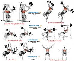 Chest Workout Chart Step By Step Full Chest Workout Chart Sport1stfuture Org