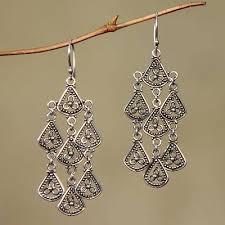 sterling silver chandelier earrings bali belle sterling silver chandelier earrings