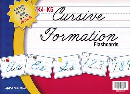 Abeka K4 K5 Cursive Formation Flashcards 26 Cards