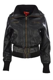 women s short black leather jackets