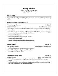 Massage Therapist Templates Massage Therapy Resume Outstanding