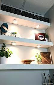 using puck lights under floating shelves in bathroom with and speakers building shelf your toilet sensational design for corner