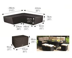 l shaped furniture. Bosmere Large L Shaped Dining Cover Furniture I