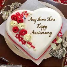 Top Free Happy Anniversary Cakes With Name