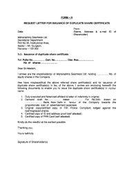Request Letter For Issuance Of Blank E Form Fill Online Printable