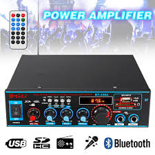 <b>HIFI 2CH 800W</b> Audio Power Amplifier 12/220V FM SD Mic ...