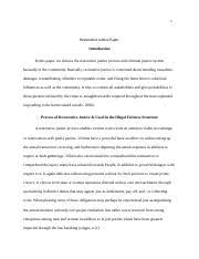 restorative justice paper docx restorative justice paper 4 pages restorative justice paper docx