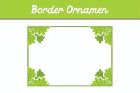 Green Border Ornament