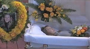 Image result for images of a woman in a casket