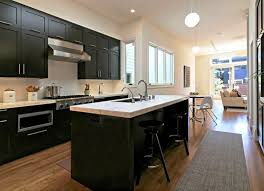 image of what color flooring go with dark kitchen cabinets