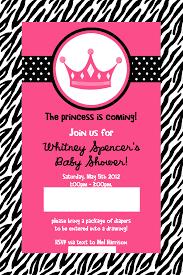 Black White Zebra Print Hot Pink MultiPhoto Ultrasound Baby Pink Zebra Baby Shower Invitations
