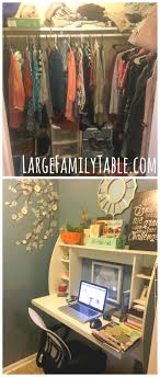 home office makeover. DIY Walk-In-Closet To Home Office Makeover