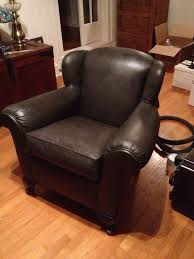 can you paint leather furniture. painted vinyl chair as chalk paint in graphite w dark wax i so wish had taken a before picture you could see how ugly it was originally can leather furniture