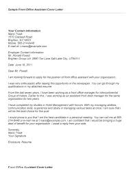 Admin Cover Letter Example Medical Office Administration Cover