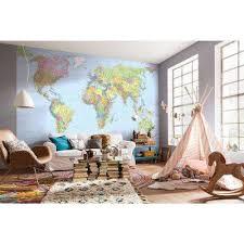 w world map wall mural