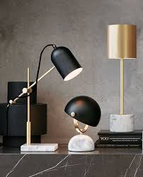 the beacon lighting cheswick 1 light table lamp in black marble