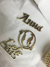 laser cutz custom personalized monogram and name plate necklace
