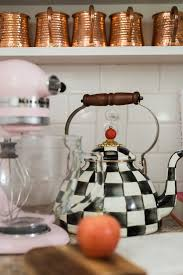 the courtly check tea kettle has become such a statement piece in a kitchen that every girl wants to own if a girl were to splurge on her next piece what