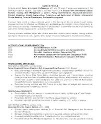 Investment Banking Resume Example Souvenirs Enfance Xyz