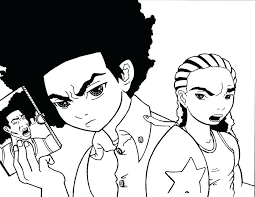 the boondocks coloring pages boondocks coloring pages