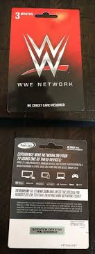 Gift card (and wwe network) provided by world wrestling entertainment inc. Prepaid Gaming Cards 156597 Wwe 3 Month Network Subscription Card Buy It Now Only 30 On Ebay Prepaid Gaming Cards Mon Ps4 Gift Card Card Games Cards