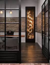 sizzling propane fuelled fireplace for the industrial home office design daystar design lab af home office