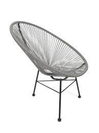 Acapulco Stuhl Chair Sessel Grau Design Klassiker In