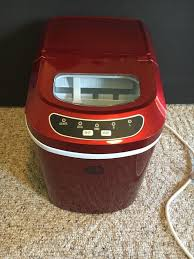 igloo portable countertop ice maker in red ice102 red