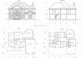 free autocad house plans dwg beautiful two y house electrical plan best free autocad floor plans