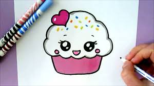 cute cupcake drawing. Wonderful Drawing HOW TO DRAW A CUTE CUPCAKE With Cute Cupcake Drawing YouTube
