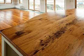 reclaimed oak countertop