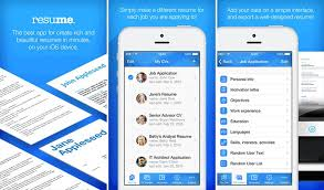 Resume Maker App Best IPhone IPad Apps To Create Your R Sum Land The Fascinating Resume Maker App