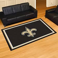 new orleans saints area rug nylon 5 x 8
