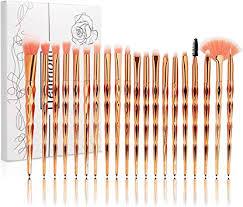 Tenmon <b>20Pcs Rose Gold</b> Unicorn Makeup Brush Set Professional ...