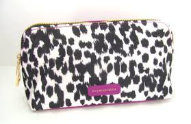 victoria s secret purple make up cosmetic case travel bag