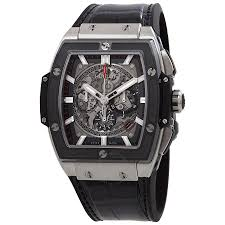 hublot spirit of big bang men s automatic black leather strap watch 601