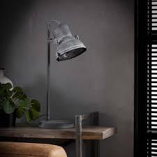 Tafellamp Industriële Spot Metaal Zwart Industriele Staande Lamp