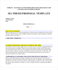 Example of a Dissertation Proposal