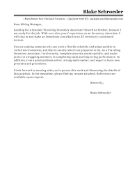 Leading Professional Traveling Inventory Associate Cover Letter