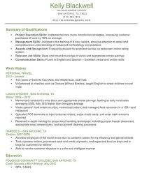 qualifications summary resumes resume examples qualifications examples of resumes