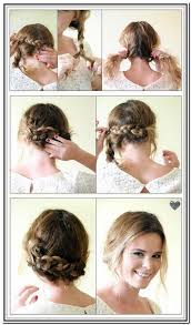 Short Hair Braid Tutorial Hair Style And Color For Woman