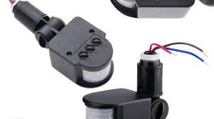led outdoor 220v infrared pir motion sensor detector wall light switch
