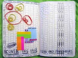 diy office supplies. cover this page using only office supplies. diy supplies